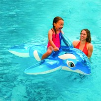 Pelampung Anak Paus Biru Lil Whale Pool Ride-On INTEX