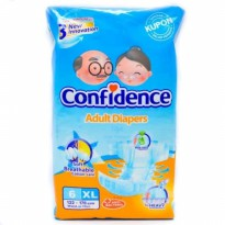 POPOK DEWASA DIAPERS CONFIDENCE SIZE XL ISI 6