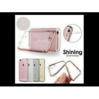 SILICON SHINING CHROME JELLY CASE TRANSPARAN SAMSUNG GALAXY J5 PRIME