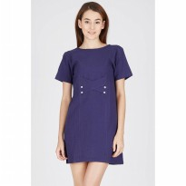 Himona Navy Dress