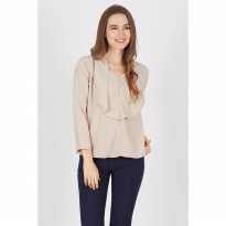 Follie Layer Top In Beige