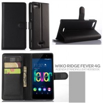 Wiko Ridge Fever 4G Agenda Standing Leather Book Case Casing Cover
