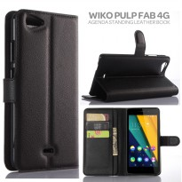 Wiko Pulp Fab 4G Agenda Standing Leather Book Case Casing Cover