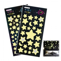 Luminous Star Sticker(Big, Little) / The Dark Sticker Kamar Bintang sticker [Petite fan]