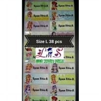 Aikatsu Size M L Name Label Waterproof Sticker Nama Stiker Anti Air