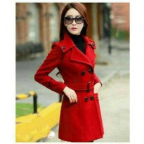 Blazer / Coat / Jacket Korea Quenna Red