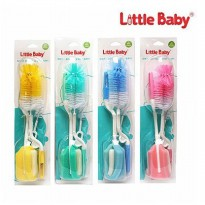 LITTLE BABY SIKAT BOTOL & DOT BAYI 3IN1