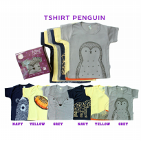 KAZEL BABY TSHIRT PENGUIN EDITION 6IN1 - SIZE NB