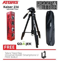 Tripod camera dslr attanta kaiser 234 + bag / tripod video