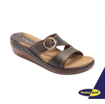 Homyped Sendal Wanita AGNES-B 53 COFFEE, BLACK, BATA