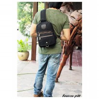BOURZU PITT 3 in 1 Genuine Leather Sling-backpack-handbag