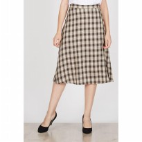 Hazel Brown Plaid Skirt