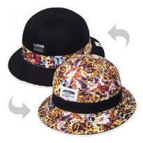 [Layden] FLOWER LEOPARD BUCKET HAT-REVERSIBLE