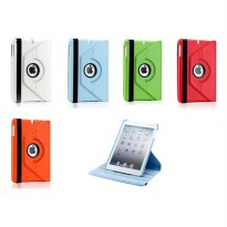 360 Degree Rotating PU Leather Stand Case Cover for iPad Mini