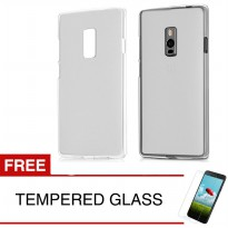 Case for OnePlus 2 - Abu-abu + Gratis Tempered Glass - Ultra Thin Soft Case