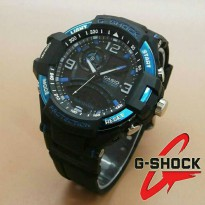 Jam Tangan G-Shock New Speedo Dualtime Black Blue