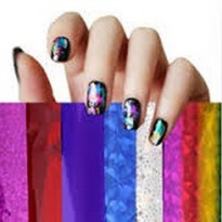 Nail Art sticker Foils ( Adhesive nail polish transfer foil sticker )