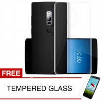 Case for OnePlus 2 - Clear + Gratis Tempered Glass - Ultra Thin Soft Case
