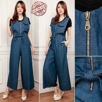 Cj collection Jumpsuit celana jeans panjang wanita jumbo overall long pant Dalika