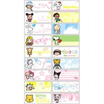 Mix Girl Name Label Sticker Waterproof Nama stiker Anti air