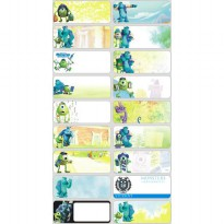 Monster University Size M L Name Label Sticker Waterproof Nama Stiker Anti Air