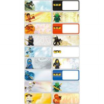 Ninjago Size M L Name Label Sticker Waterproof Nama Stiker Anti air