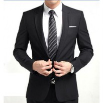 Jas Kantor Bahan SuperBlack for Men