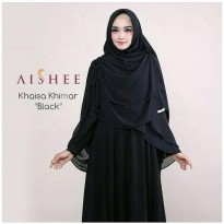 KHAISA KHIMAR DOBEL LAYER BLACK