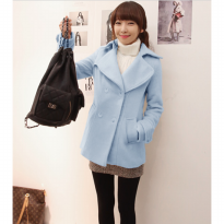 coat tebal musim dingin korea atasan wool winter blazer outer grosir