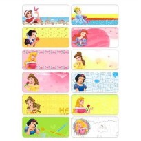 Princess Size L Name Label Sticker Waterproof Nama Stiker Anti Air