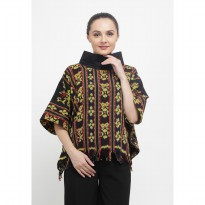 Sabrina Neck Tenun Top-Yellow