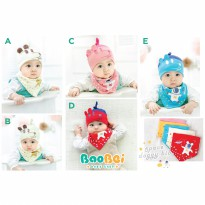 Slabber topi set fashion/celemek anak/tatakan air liur/ topi fashion