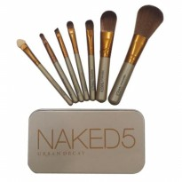 NAKED 5 brush kaleng 7 in 1 Make up brush set Naked 5 Kuas Makeup 7IN1 [isi 7 kuas] BEST SELLER