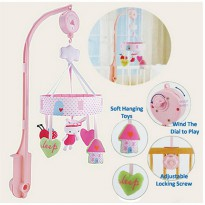 [Kirim Sore Ini] Mainan Bayi/Musical Mobile My Little World Pink
