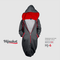 JAKET HIJACKET - PREMIUM FLEECE - ( XL ) HJ6 - Hijacket Misty x Red