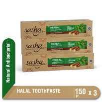 13k+[3 PCS] Sasha Tooth Paste Antibacterial 150 gr  Kino Pasta Gigi Herbal Siwak Sirih Anti Bakteri Alami