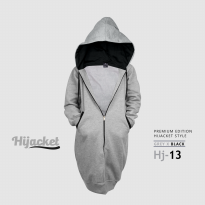 JAKET HIJACKET - PREMIUM FLEECE - ( XL ) HJ13 - Hijacket Grey x Black