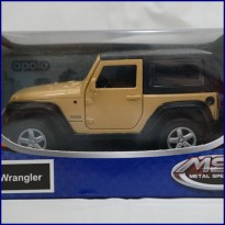 Jeep Wrangler Brown - Diecast Metal - Apolo