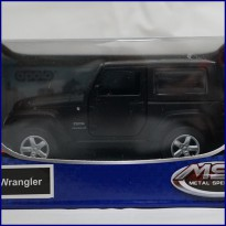 Jeep Wrangler Black - Diecast Metal - Apolo