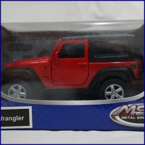 Jeep Wrangler Red - Diecast Metal - Apolo