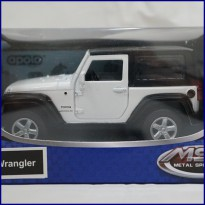 Jeep Wrangler White - Diecast Metal - Apolo