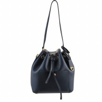 MICHAEL KORS GREENWICH MEDIUM PERFORATED SAFFIANO BUCKET BAG