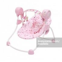 Mastela Deluxe Portable Swing - Dark Brown/Light Brown/Pink/Green