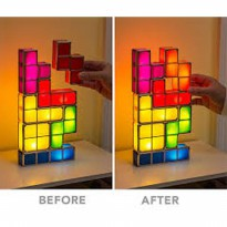 TETRIS LAMP TACTBIT LIGHT RECHARGEABLE mainan anak tetris lampu SJ0055