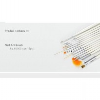 Nail Art Brush ~ Alat Lukis Kuku ( 1set = 15pcs)