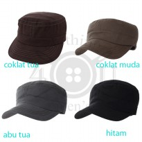 Topi Komando Army Bahan Canvas