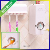 Dispenser Odol / Pasta Gigi Plus Tempat Sikat Gigi Toothpaste Dispens