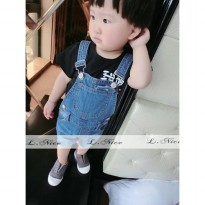 L Nice 83 Black Shirt Overall Jeans