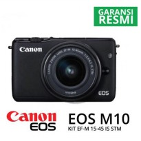 Mirorless Canon EOS M10 KIT EF-M15-45MM BLACK | Surabaya