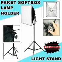 STUDIO PRO LIGHTING - 1 Lamp 60x60cm Continous with Light stand 200cm